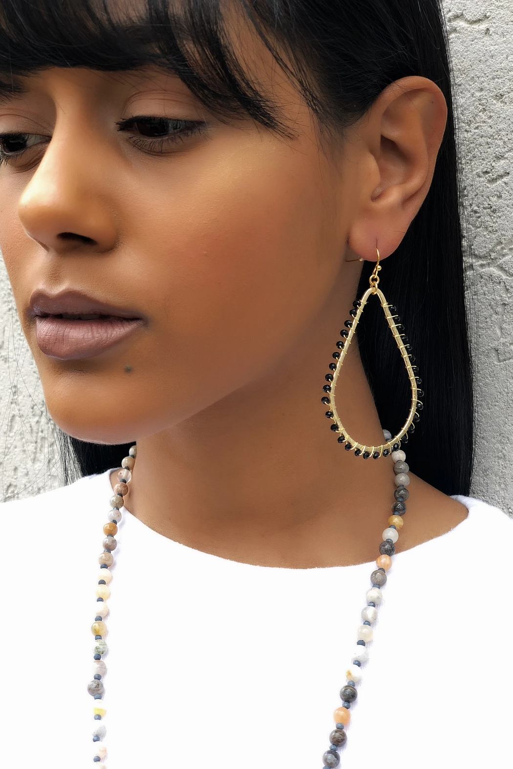 Fabulina Designs Hannah Crystal Wrapped Earrings - Front Full Image