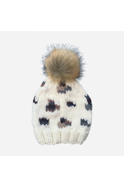 Blueberry Hill Hannah Leopard Hat With Fur Pom Pom - Product Mini Image