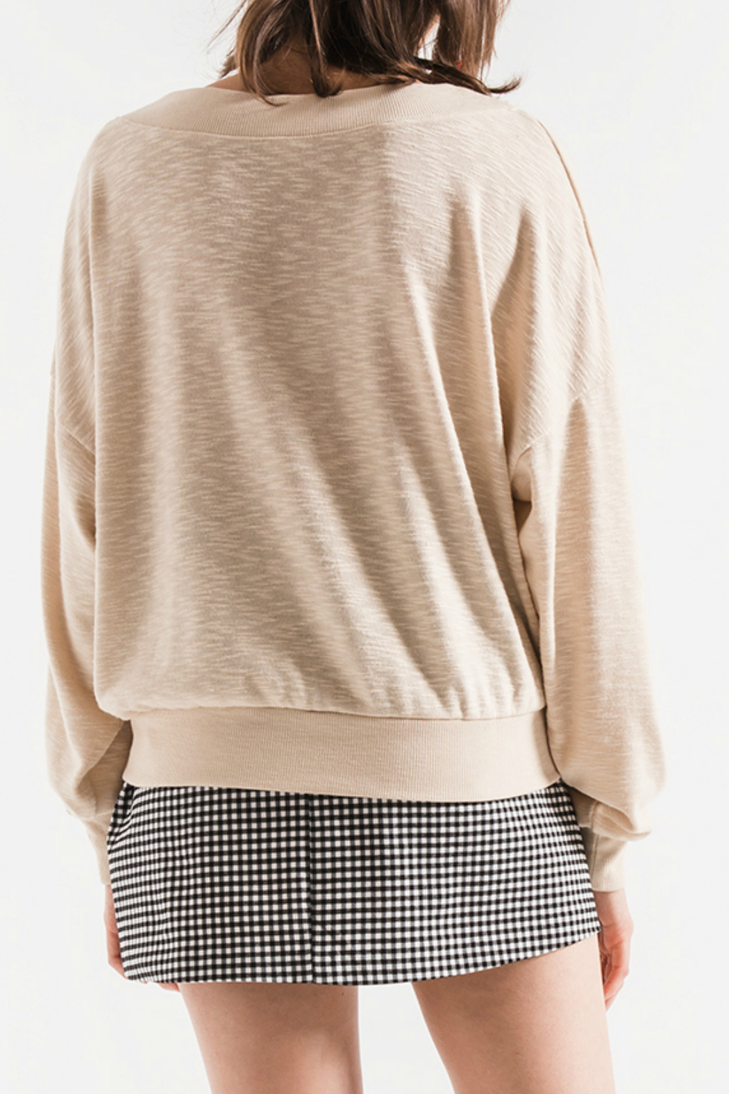 Others Follow  Hannah V-Neck Lightweight Sweater - Front Full Image