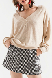 Others Follow  Hannah V-Neck Lightweight Sweater - Product Mini Image