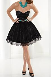 Hannah S Lace Strapless Dress - Product Mini Image