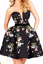Hannah S Strapless Floral Dress - Product Mini Image