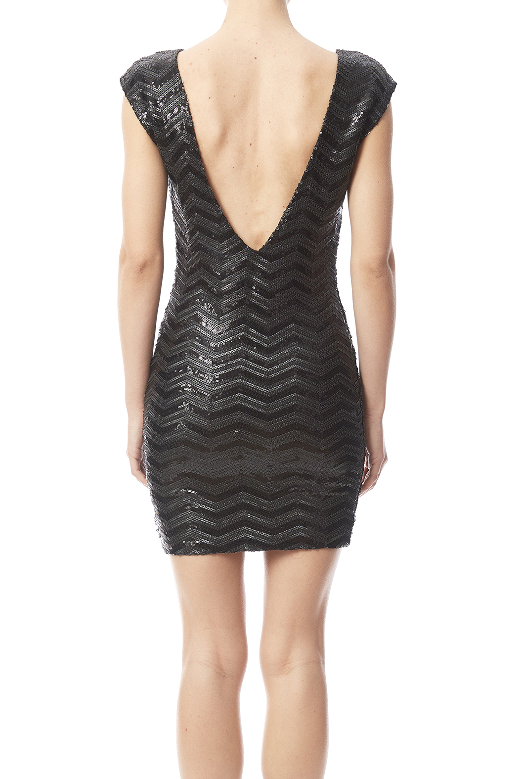 Haoduoyi Black Sequin Dress - Back Cropped Image