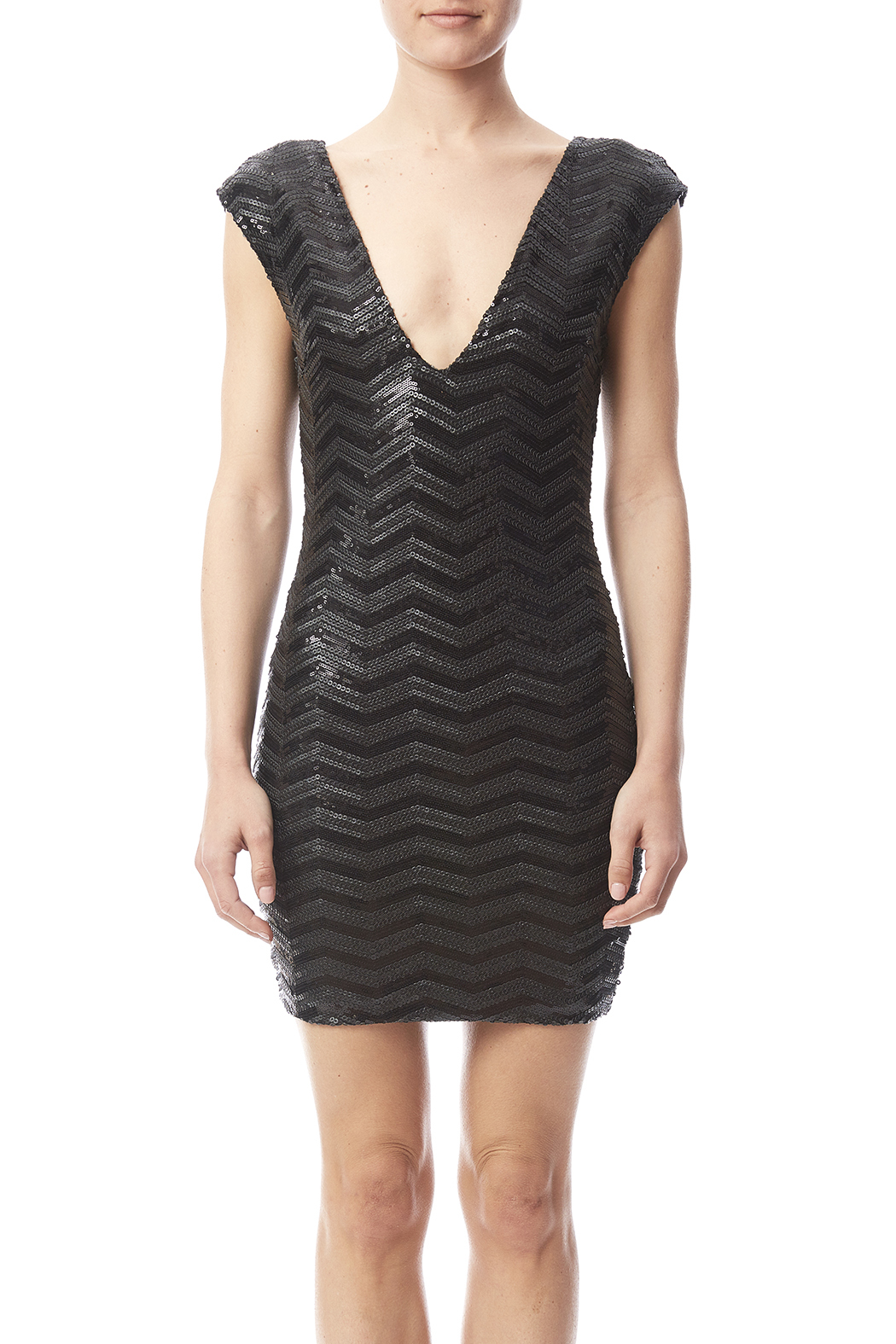Haoduoyi Black Sequin Dress - Side Cropped Image