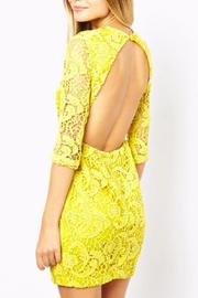 Haoduoyi Yellow Lace Dress - Other