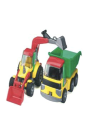 Bruder Roadmax Backhoe Loader - Front cropped