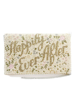 Mary Frances Accessories Happily Ever After Handbag Beaded Floral Embroidered Bridal Crossbody Clutch Handbag - Product List Image