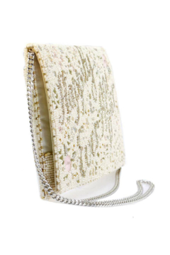 Mary Frances Accessories Happily Ever After Handbag Beaded Floral Embroidered Bridal Crossbody Clutch Handbag - Alternate List Image