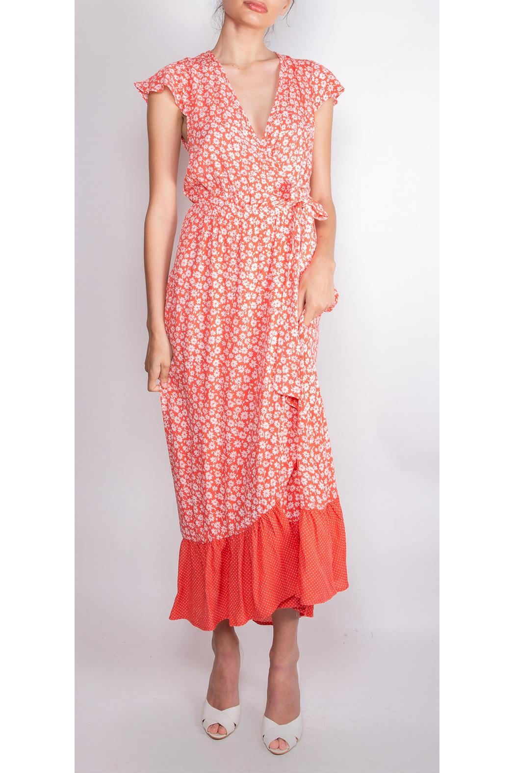 Illa Illa Happiness Floral Wrap-Dress - Front Cropped Image