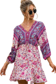 Esley  Happiness Print Dress - Front cropped