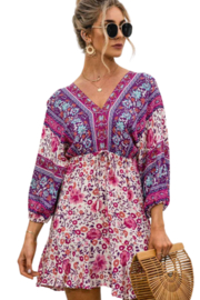 Esley  Happiness Print Dress - Front full body