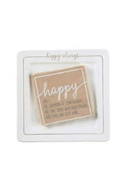 Lets Accessorize Happy-Always Ceramic Plate - Product Mini Image