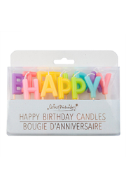 Great Pretenders  Happy Birthday Candles - Front full body