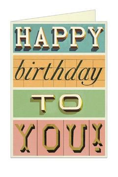 Shoptiques Product: Happy Birthday Card