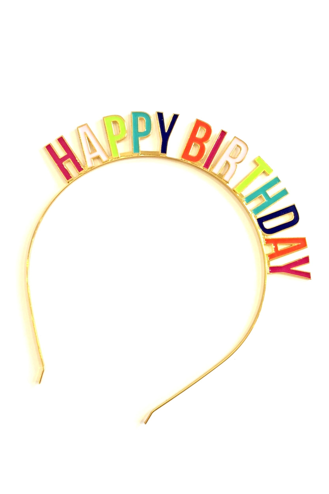 Slant Collections Happy Birthday Headband - Front Cropped Image