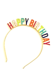 Slant Collections Happy Birthday Headband - Front cropped