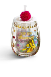 Two's Company Happy Birthday Stemless Glass - Product Mini Image