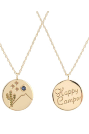 Kris Nations Happy Camper Charm Necklace - Product Mini Image
