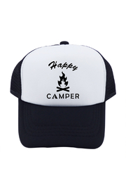 Outdoorable Apparel Happy Camper Hat - Black - Front cropped