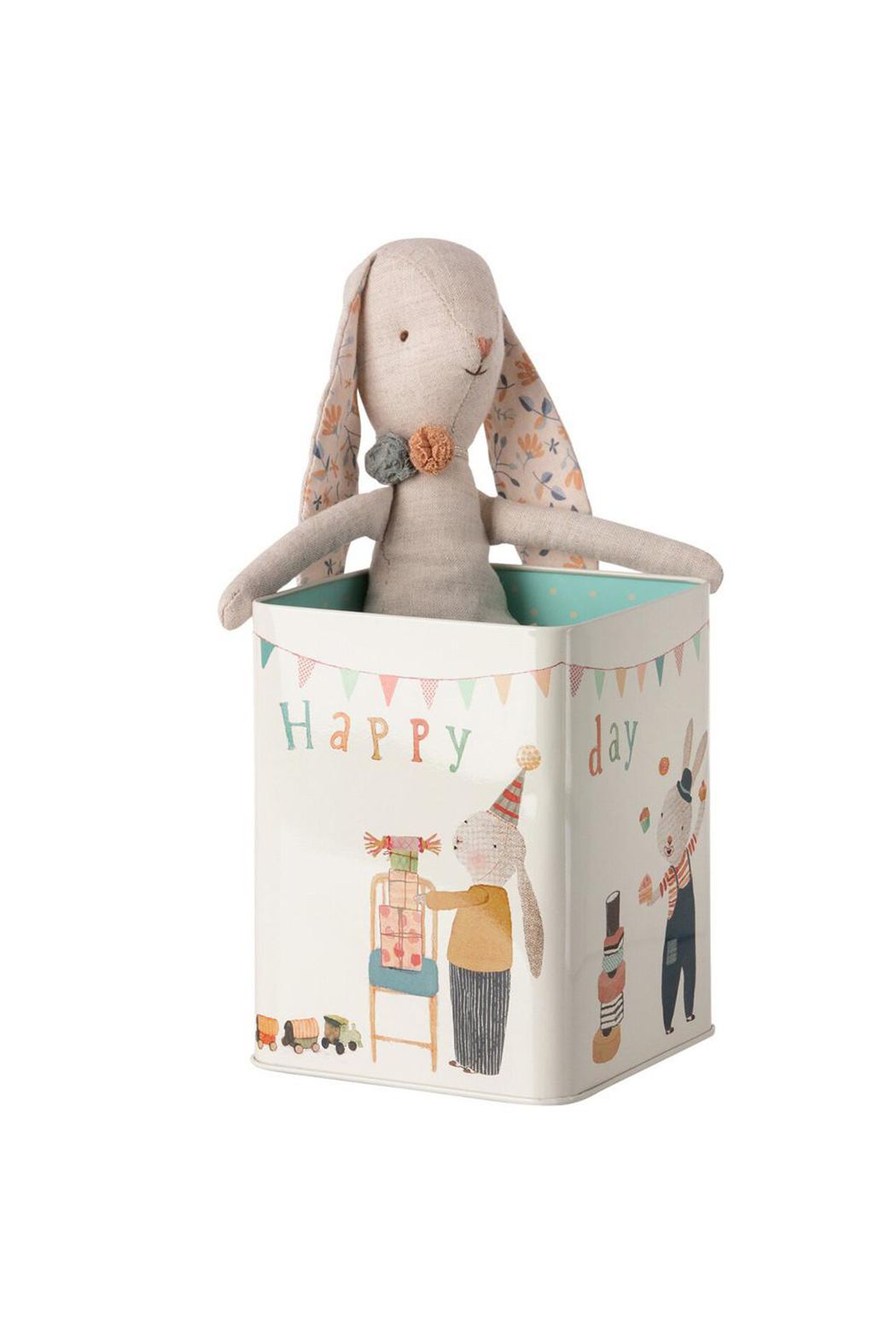 Maileg Happy Day Bunny In A Box Medium - Front Full Image