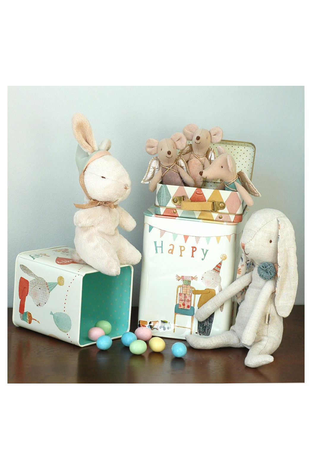 Maileg Happy Day Bunny In A Box Medium - Side Cropped Image