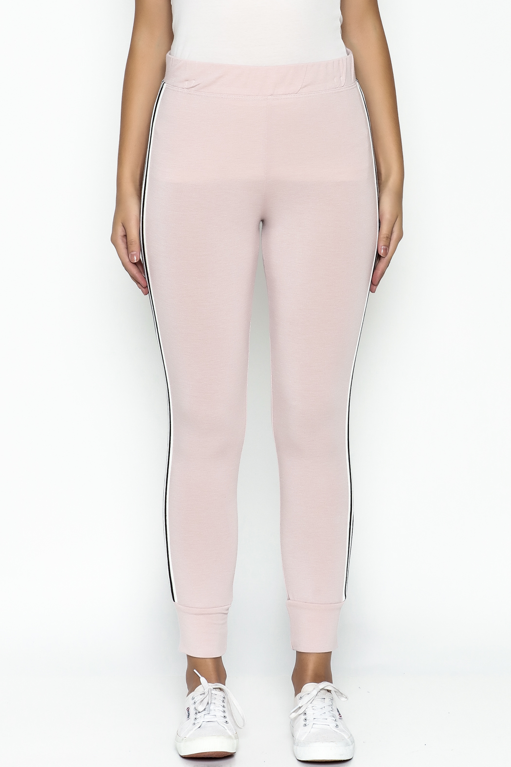Happy Days USA Millennial Pink Jogger Pants - Front Full Image