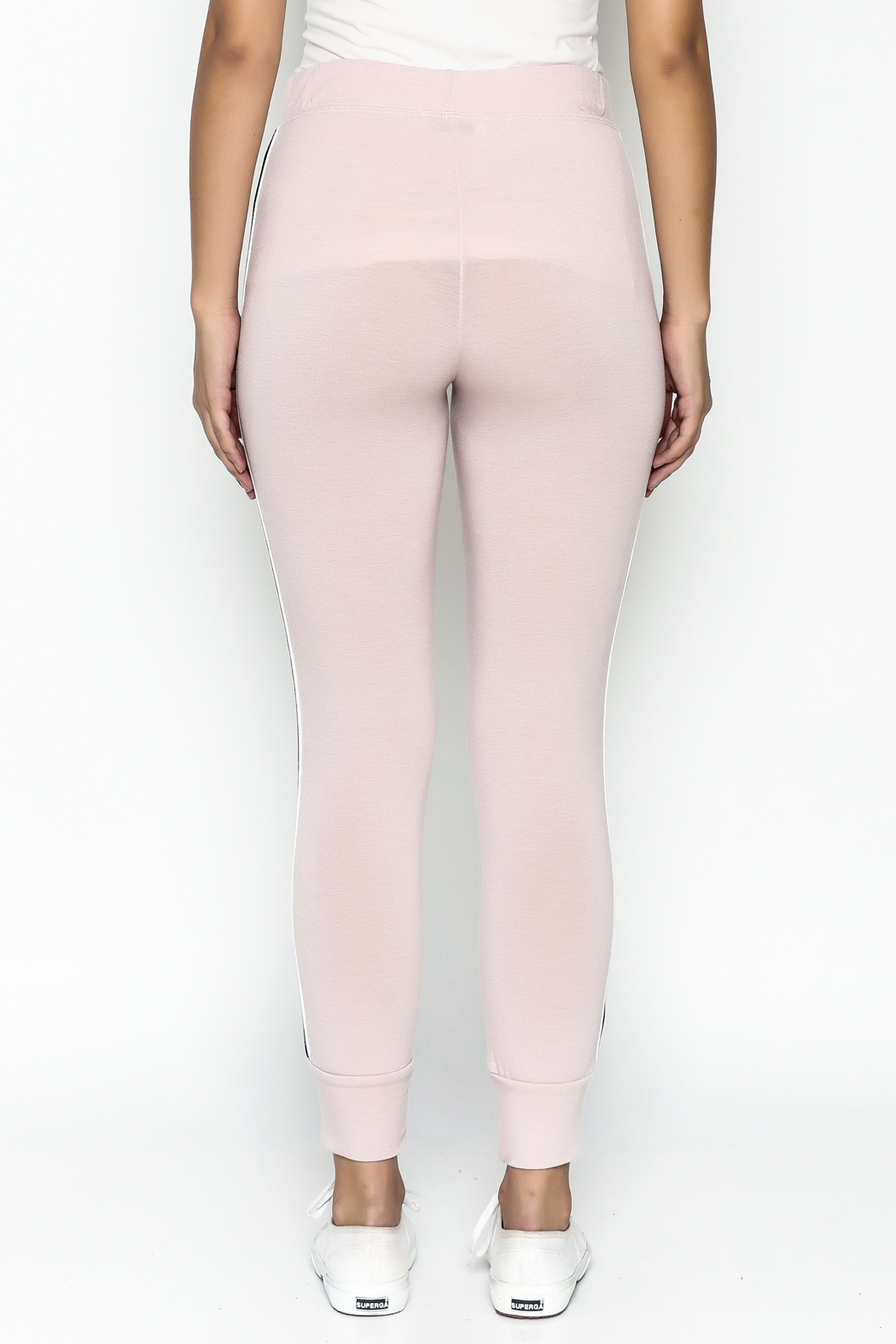 Happy Days USA Millennial Pink Jogger Pants - Back Cropped Image