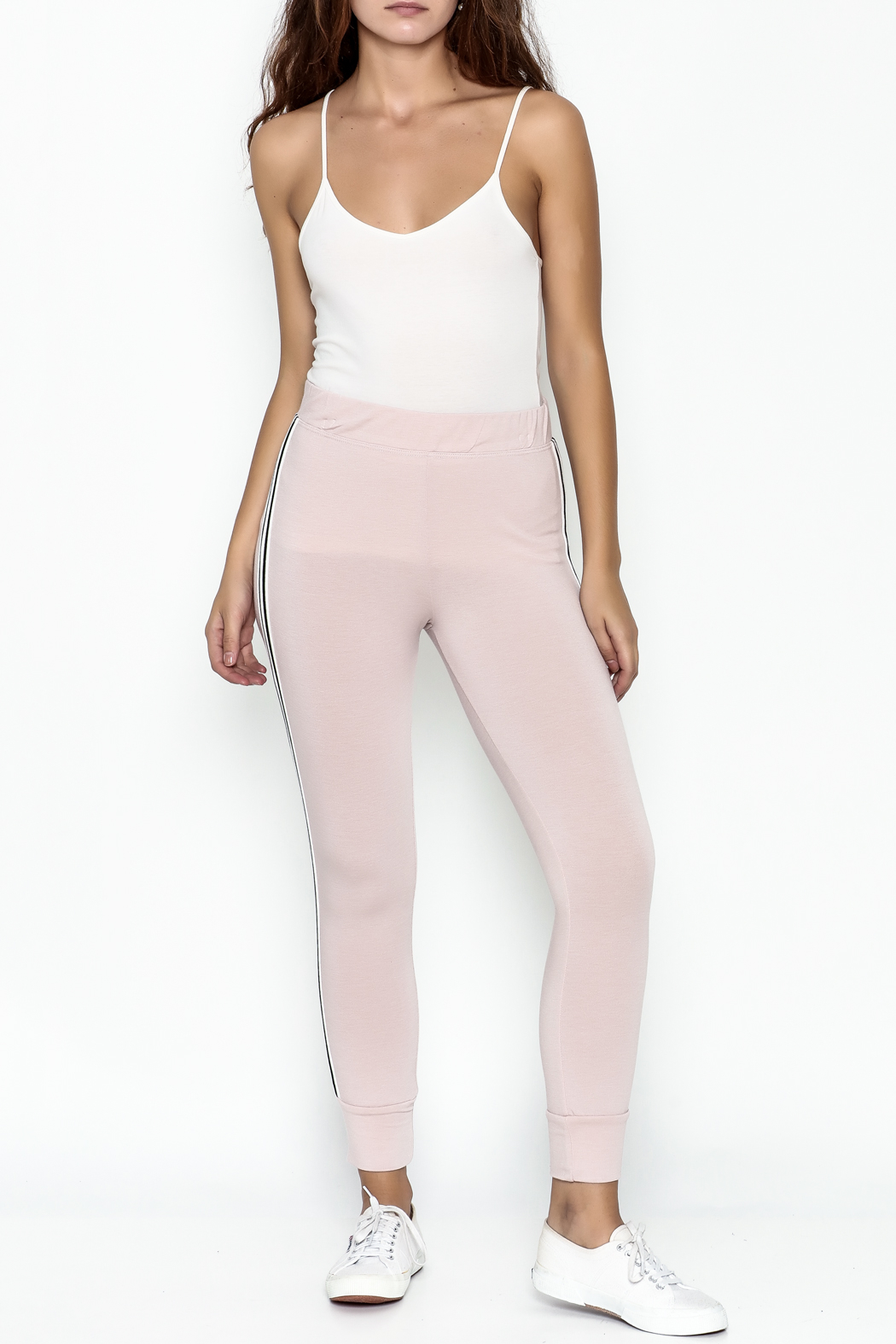 Happy Days USA Millennial Pink Jogger Pants - Side Cropped Image