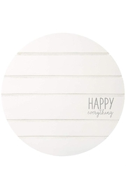 Mud Pie Happy-Everything Spinner Plate - Front cropped