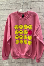 Trend:notes Happy Face Graphic Sweatshirt - Product Mini Image
