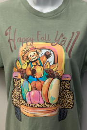 Kindred Mercantile  Happy fall y'all tee - Product Mini Image