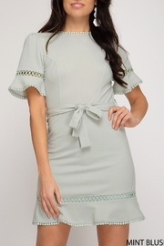 She and Sky Happy For You Dress - Front cropped