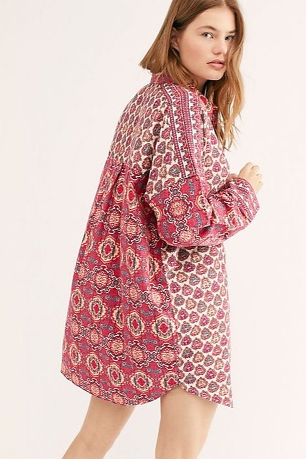 Free People Happy Holibabe Sleep Shirt - Front Full Image