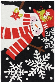 Jelly Bean Rugs Happy Holiday Snowman - Product Mini Image