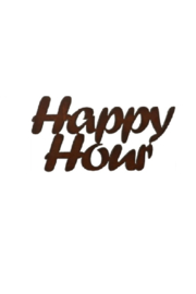 Rustic Ironwerks Happy Hour Sign - Front cropped
