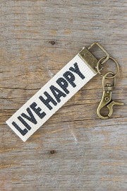 Natural Life Happy Key Fob - Front cropped