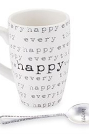 Mud Pie Happy Mug Set - Product Mini Image