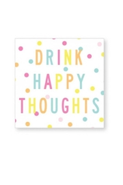 CR Gibson Happy Thoughts Napkins - Product Mini Image