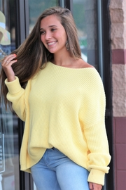 She + Sky Happy To Be Here Sweater - Front full body