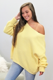 She + Sky Happy To Be Here Sweater - Back cropped