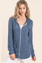 MapleSage Brushed Zip Hoodie - Front cropped