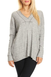 Happy Days USA Grey V-Neck Tunic - Front cropped