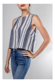 Lumiere Harbor Striped Crop-Top - Side cropped