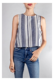 Lumiere Harbor Striped Crop-Top - Front cropped