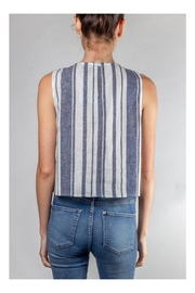 Lumiere Harbor Striped Crop-Top - Back cropped