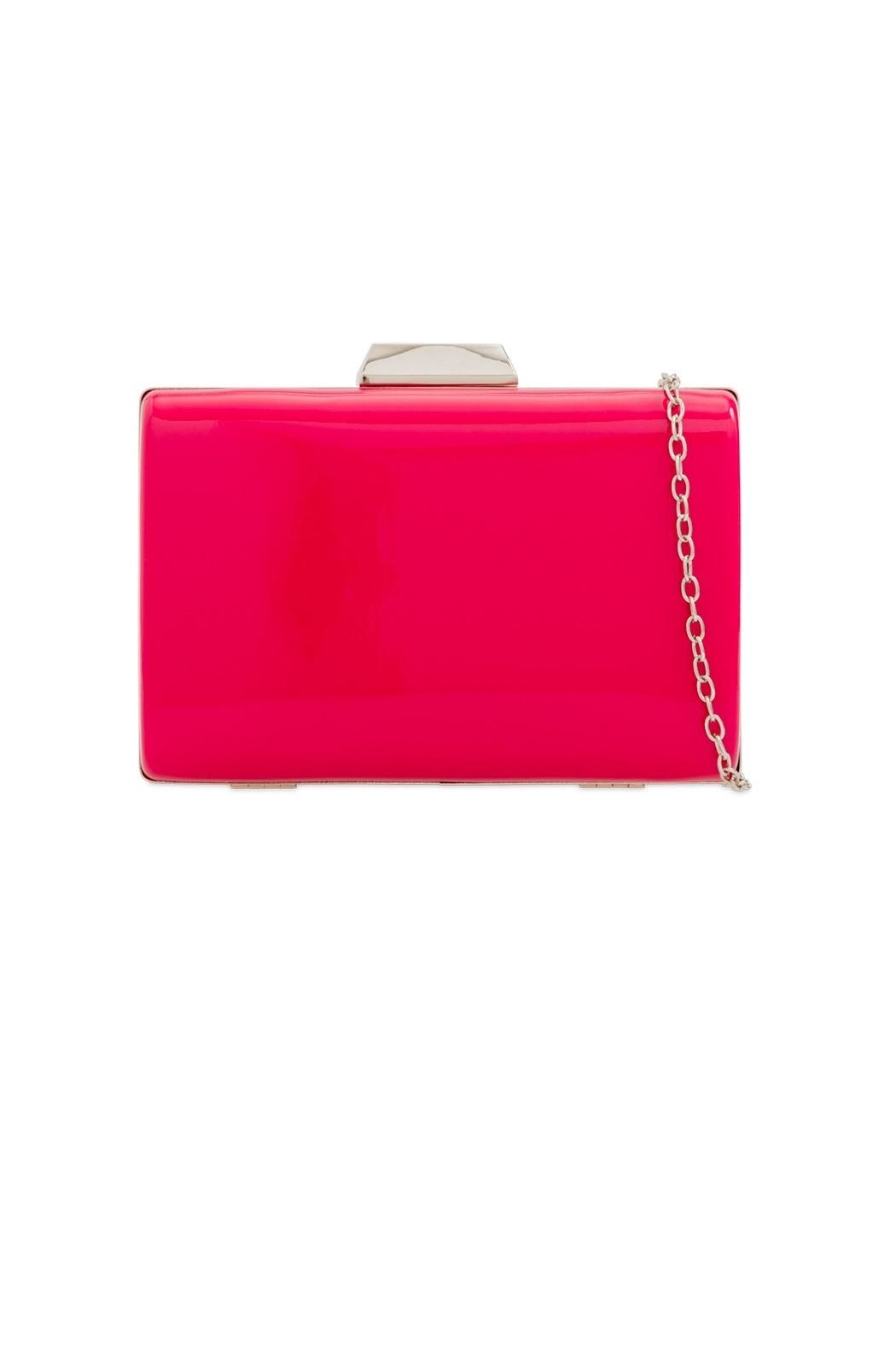 Pink Poodle Boutique Hard Box Clutch - Front Cropped Image