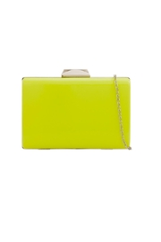 Pink Poodle Boutique Hard Box Clutch - Front cropped