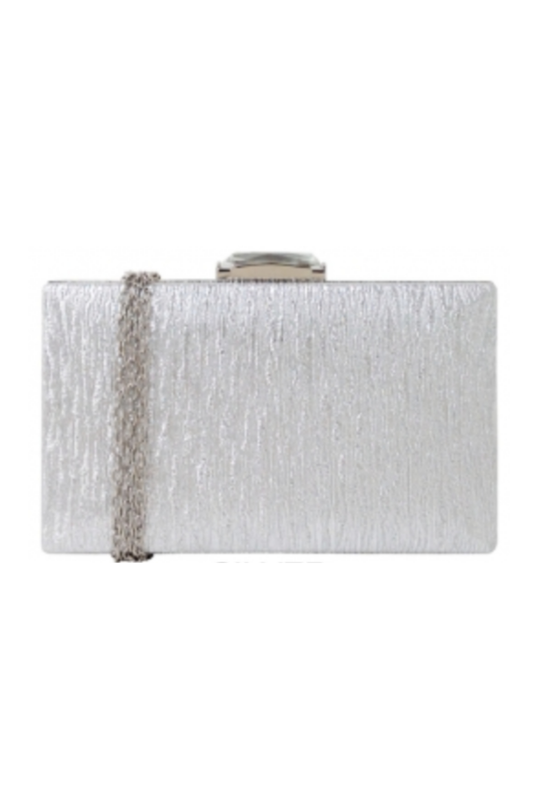 JNB Hard Case Clutch W Jewel Top - Front Cropped Image