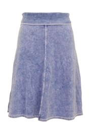Hard Tail Knee Length A-Line Denim Skirt with Rolldown Waistband Style B-126 - Product Mini Image