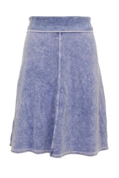 Hard Tail Knee Length A-Line Denim Skirt with Rolldown Waistband Style B-126 - Product List Image